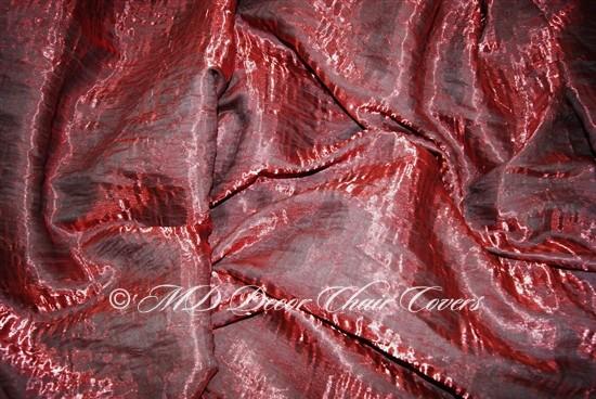 Crush Shimmer Bordeaux Table Overlay