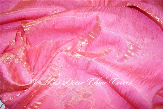 Crush Shimmer Flamingo Pink Table Overlay