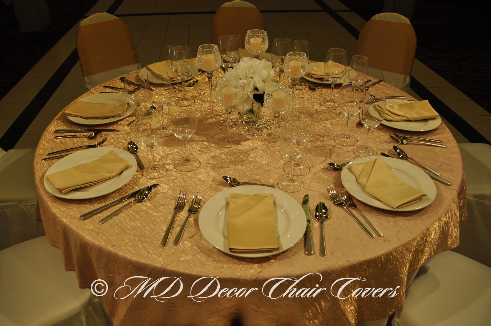 Gold Shimmer Crush Table Overlay