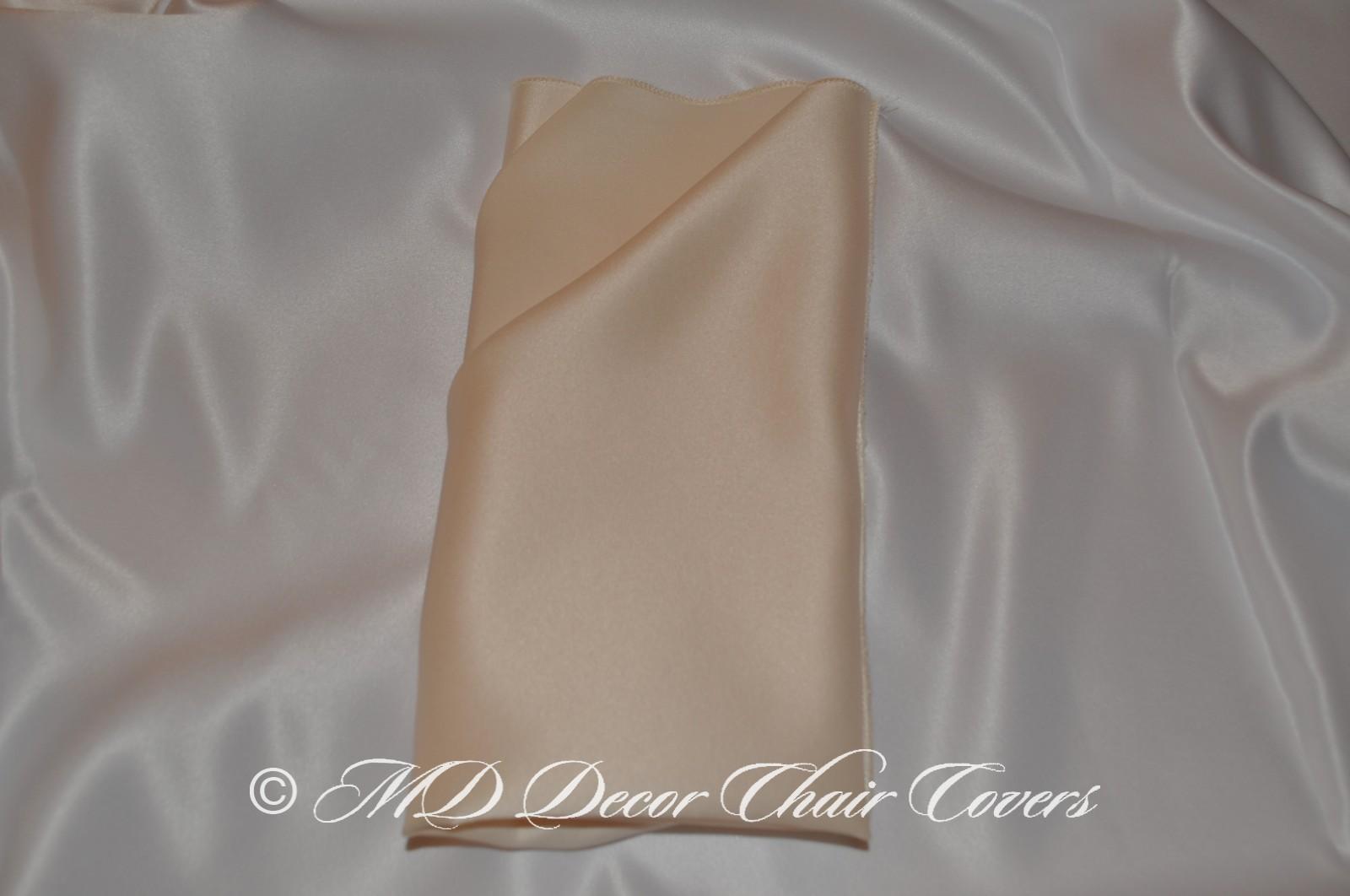 Gold satin lamour napkin