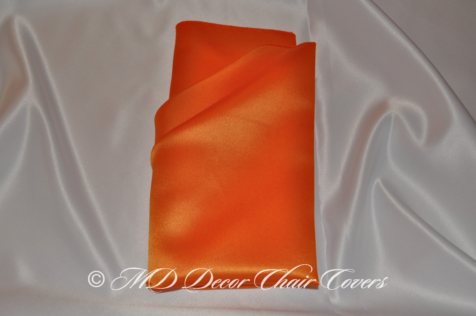 Orange satin lamour napkin