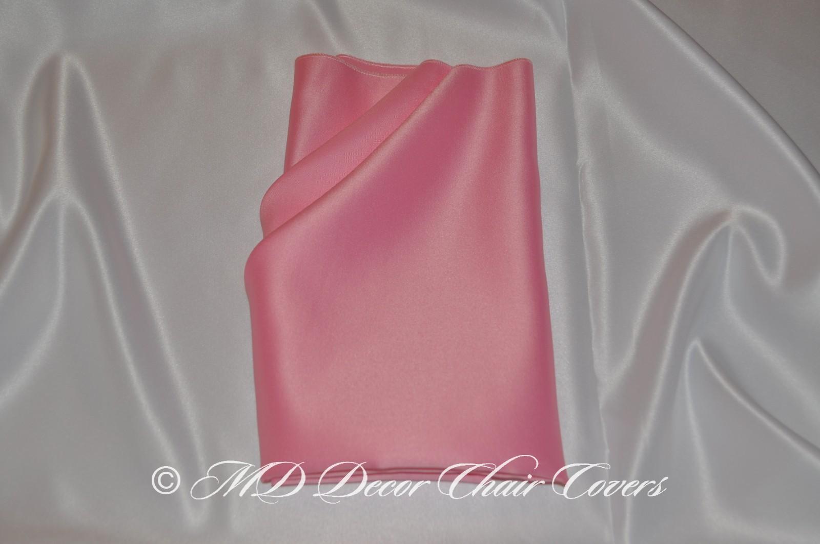 Pink satin lamour napkin