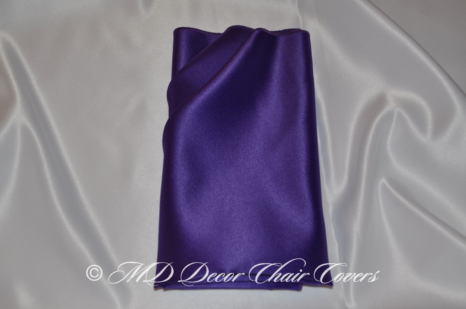 Purple blue satin lamour napkin