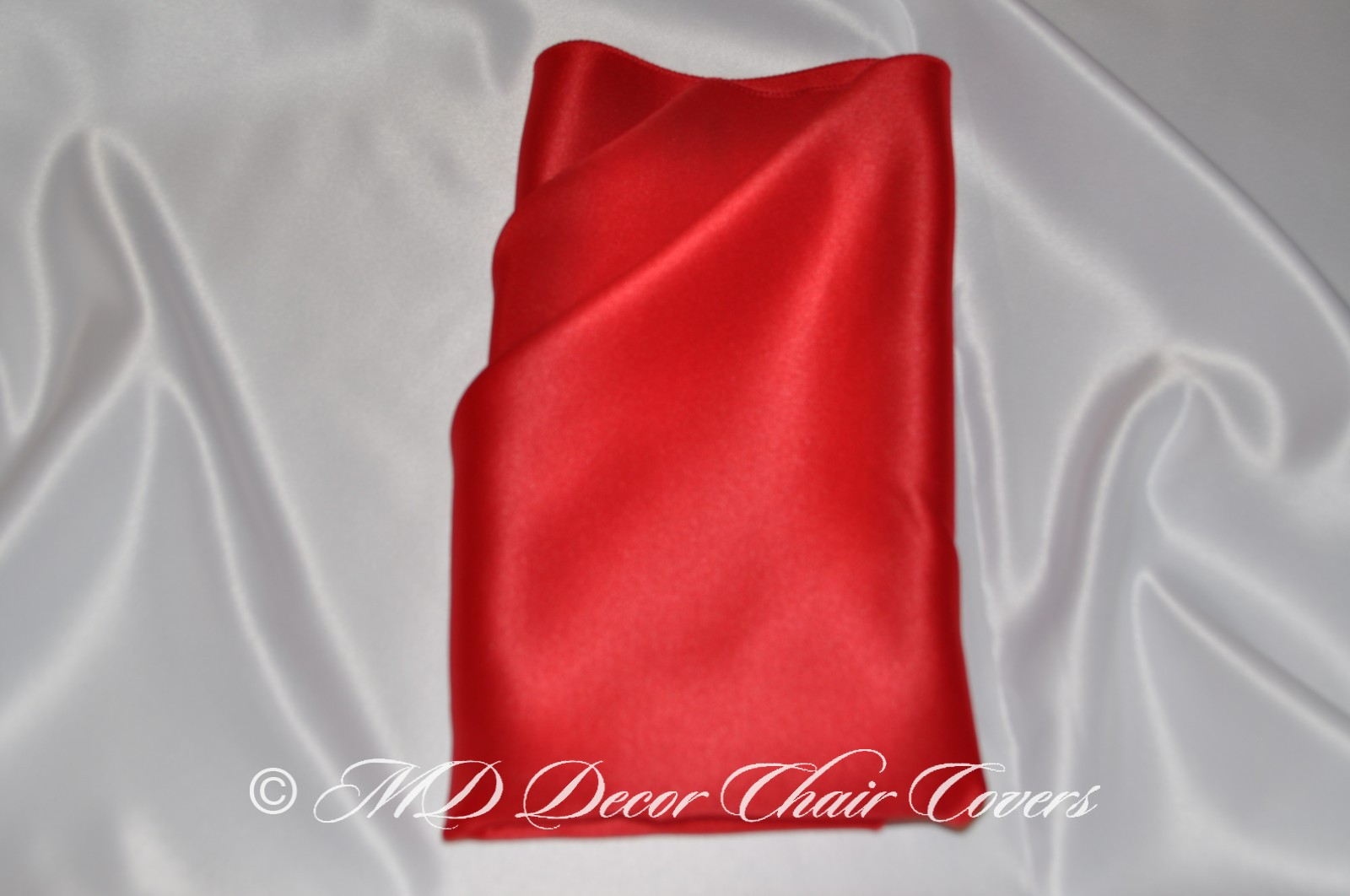 Red blue satin lamour napkin