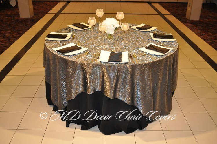 Silver Shimmer Crush Table Overlay