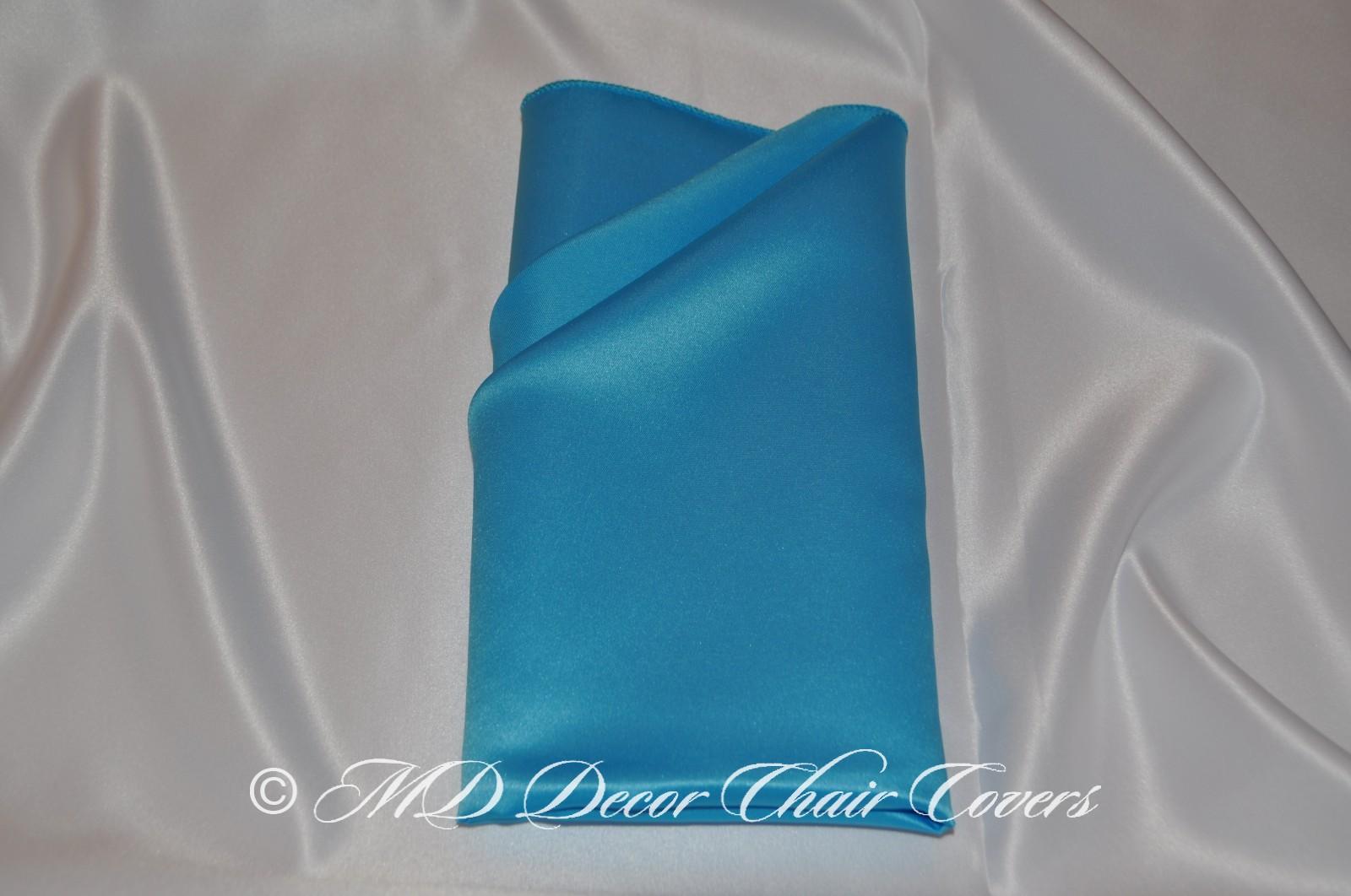 Turquoise satin l amour napkin