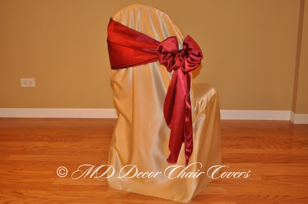 Burgundy Butterfly Bow Style