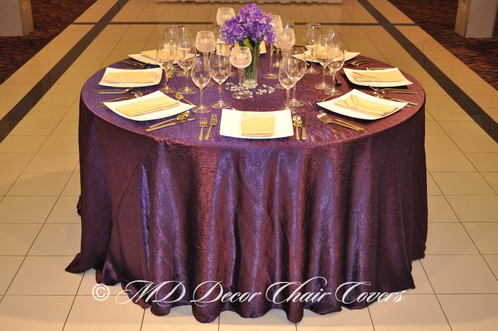 Deep-Purple-Crushed-Satin-Tablecloth