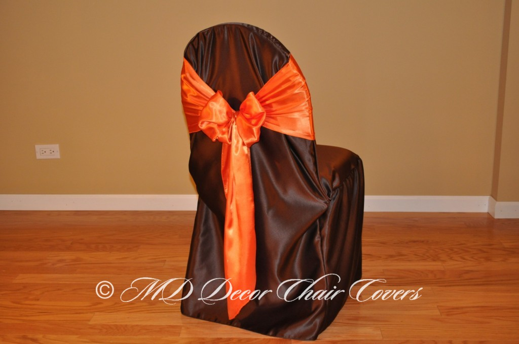 Orange Butterfly Bow Style