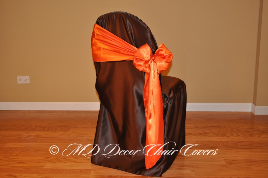 Orange Butterfly Bow Style On The Side