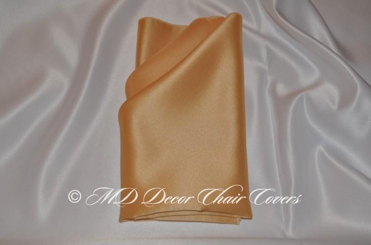 Ivory satin lamour napkin