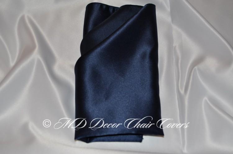 Navy blue satin lamour napkin