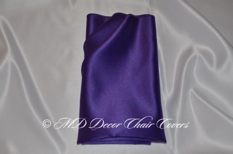 Purple blue satin lamour napkin