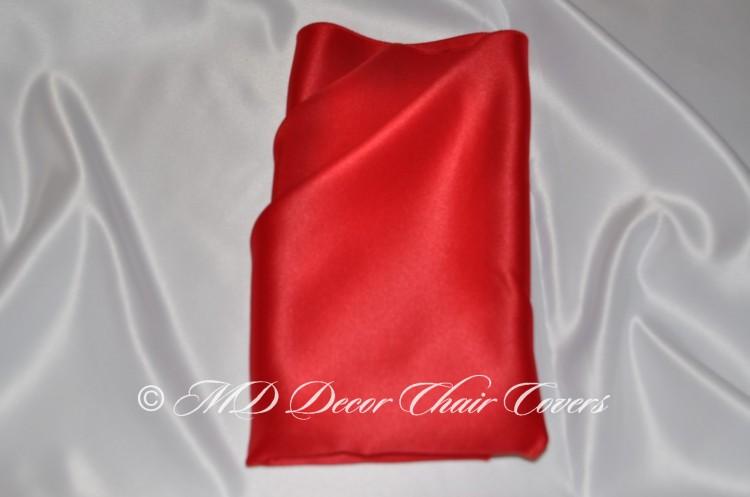 Red blue satin lamour napkin