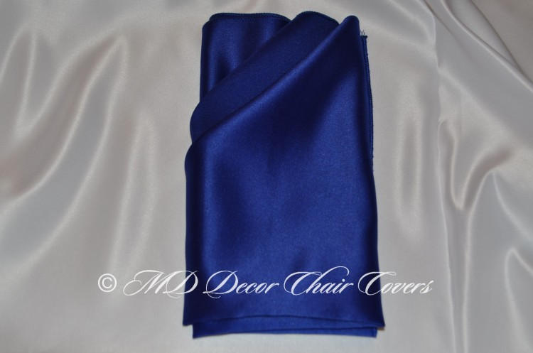 Royal blue satin lamour napkin