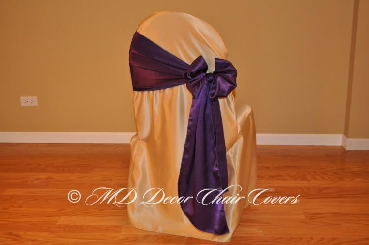 Deep Purple Butterfly Bow Style On The Side