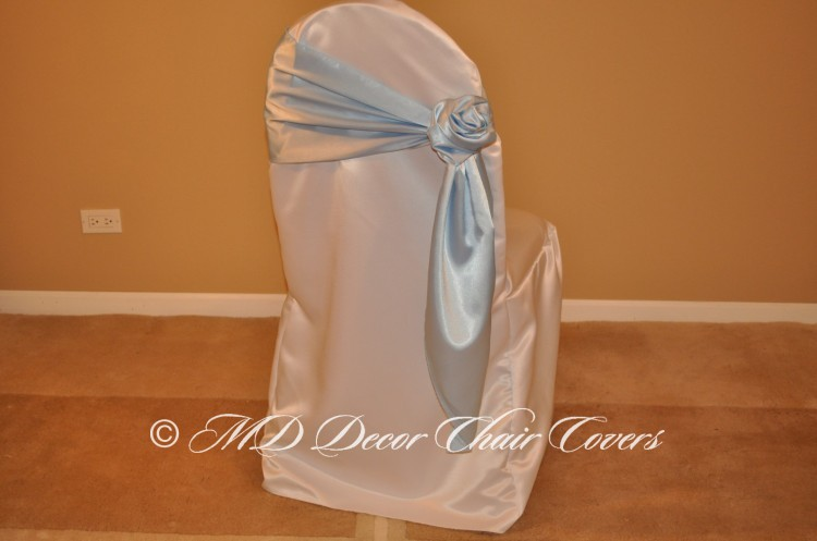 Light Blue Rose Style On The Side