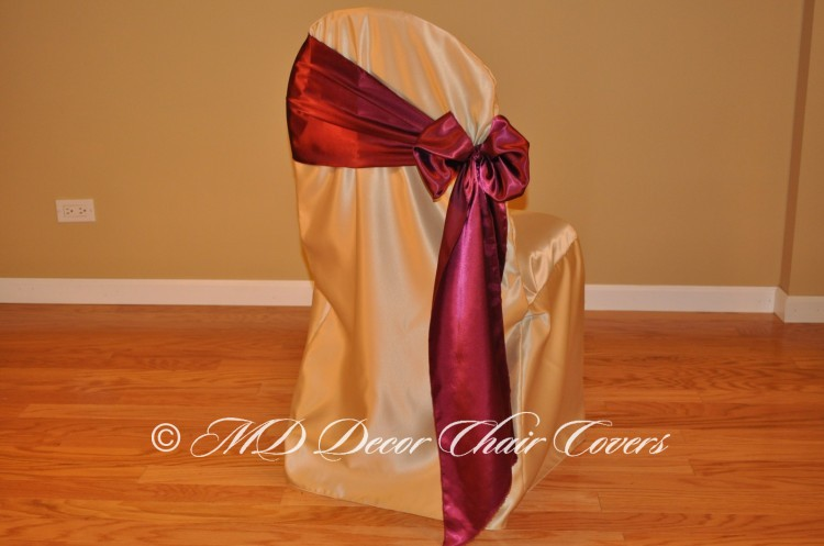 Wine Butterfly Bow Style On The Side