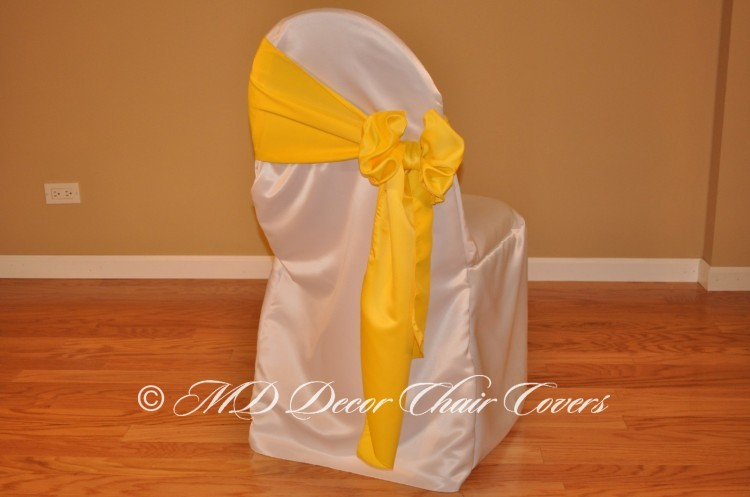 Yellow Butterfly Bow Style On The Side